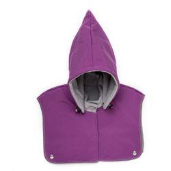 Detská kapucňa so šálom - violet-grey