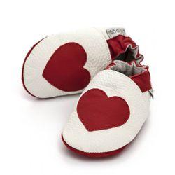 Topánky Liliputi - červené srdiečko