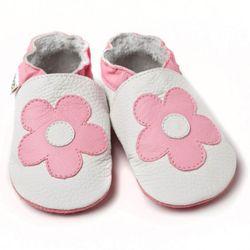 Topánky Liliputi - biele s kvetinkou