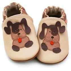 Topánky Liliputi - hnedý psík