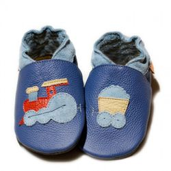 Topánky Liliputi - modré s vláčikom