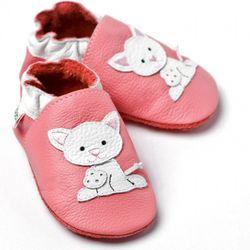 Topánky Liliputi - ružové s mačiatkom