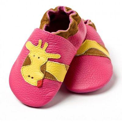 Topánky Liliputi - ružové so žirafou