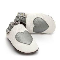Topánky Liliputi - strieborné srdiečko